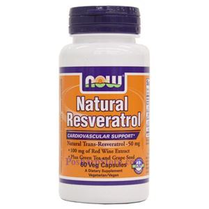 Picture of Now Foods Natural Resveratrol 60 Veg Capsules