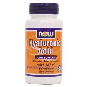 Picture of Now Foods Hyaluronic Acid With MSM 60 Veg Capsules