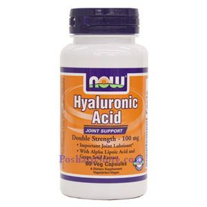 Picture of Now Foods Hyaluronic Acid Double Strength 100mg 60 Veg Capsules