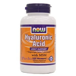 Picture of Now Foods Hyaluronic Acid With MSM 120 Veg Capsules