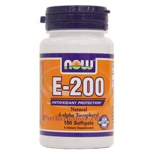 Picture of Now Vitamin E-200 IU d-alpha 100 Softgels