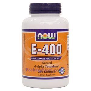 Picture of Now Foods Vitamin E-400 IU D-Alpha Tocopheryl 250 Softgels