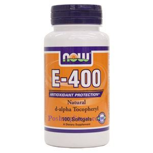 Picture of Now Foods Vitamin E-400 IU D-Alpha Tocopheryl 100 Softgels