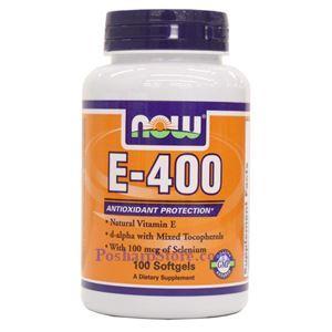 图片 Now Foods牌含硒维生素E-400素食胶囊 100粒