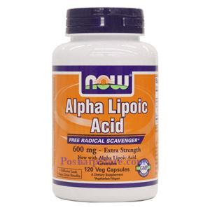 Picture of Now Foods Alpha Lipoic Acid Extra Strength 600mg  120 Veg Capsules