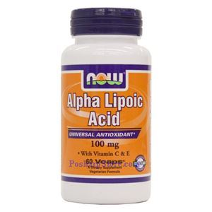 Picture of Now Foods Alpha Lipoic Acid 100mg 60 Veg Capsules