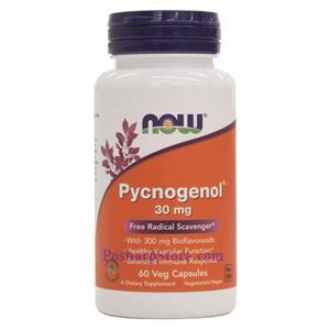 Picture of Now Foods Pycnogenol 30mg 60 Veg Capsules