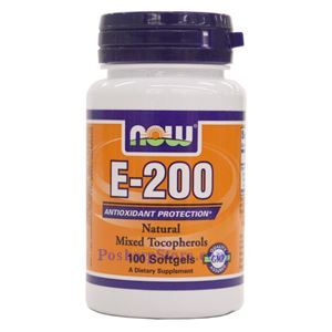 Picture of Now Foods Vitamin E-200 IU MT 100 Softgels