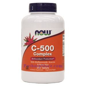 Picture of Now Foods Vitamin C-500  Complex 250 Tablets
