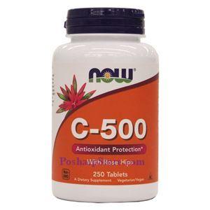 图片 Now Foods牌玫瑰果维生素C 500毫克 250片