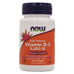 Picture of Now Foods Vitamin D-3 5000 IU 120 Softgels