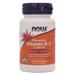 Picture of Now Foods Vitamin D-3 5000 IU 120 Chewables