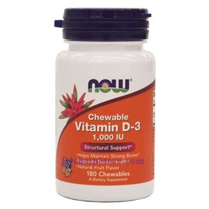 Picture of Now Foods Vitamin D-3 1000 IU 180 Chewables