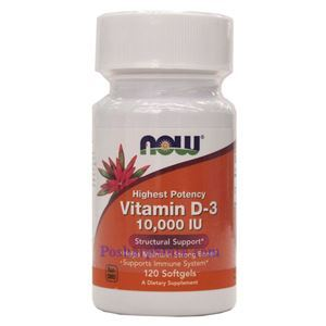Picture of Now Foods Vitamin D-3 10000 IU 120 Softgels