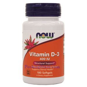 Picture of Now Foods Vitamin D-3 400 IU 180 Softgels
