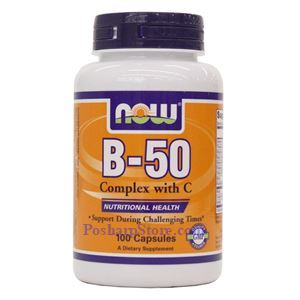 Picture of Now Foods Vitamin B-50 Complex With C 100 Capsule