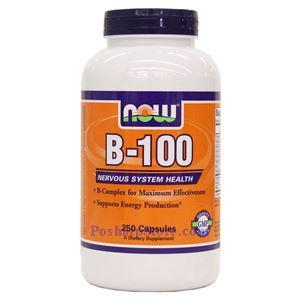 Picture of Now Foods Vitamin B-100 250 Capsules
