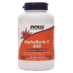 Picture of Now Foods AlphaSorb-C 500 180 Veg Capsules