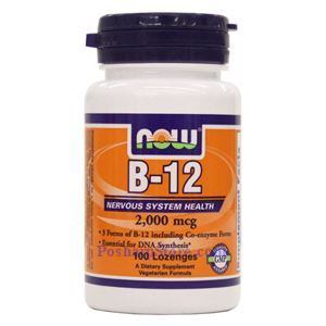 Picture of Now Foods Vitamin B-12 2000 mcg 100 Lozenges