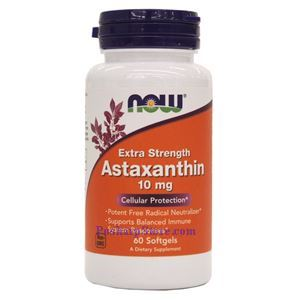 Picture of Now Foods Astaxanthin Extra Strength 10 mg 60 Softgels
