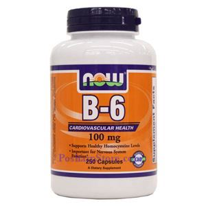 Picture of Now Foods Vitamin B-6 100mg 250 Capsules