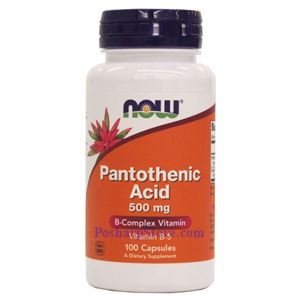 Picture of Now Foods Pantothenic Acid 500 mg 100 Capsules