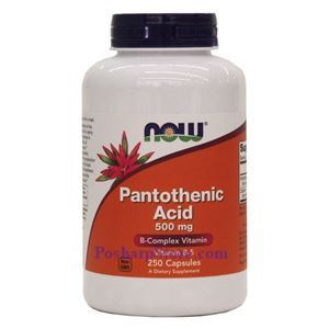 Picture of Now Foods Pantothenic Acid (B5) 500 mg 250 Capsules