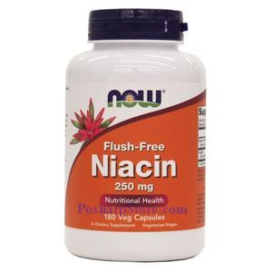 Picture of Now Foods Flush-Free Niacin 250 mg - 180 Veg Capsules
