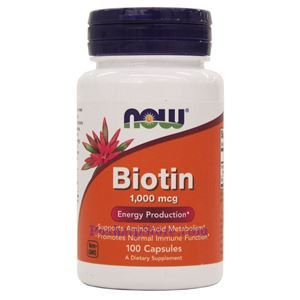 Picture of Now Foods Biotin 1000 mcg 100 Capsules