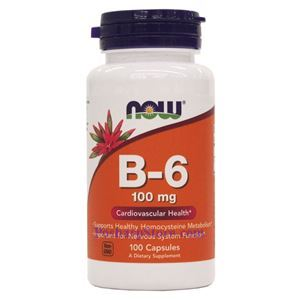 图片 Now Foods牌维生素B6胶囊 100毫克 100粒