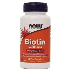 Picture of Now Foods Biotin 5000 mcg 60 Veg Capsules