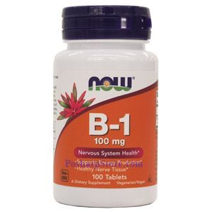 Picture of Now Foods Vitamin B-1 (Thiamine) 100mg 100 Tablets