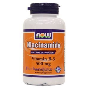 Picture of Now Foods Niacinamide (B-3) 500 mg 100 Capsules