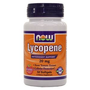 Picture of Now Foods Lycopene 20mg 50 Softgels