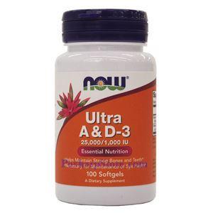 图片 Now Foods牌强效维生素A和D3软胶囊  25,000/1,000 IU 100粒