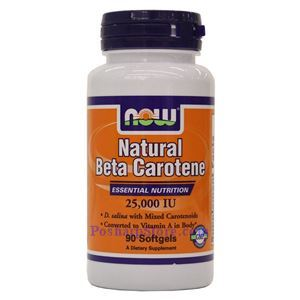 Picture of Now Foods Natural Beta Carotene 25000 IU 90 Softgels