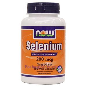 Picture of Now Foods Selenium 200mcg 180 Veg Capsules