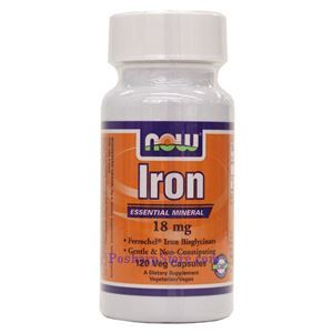 Picture of Now Foods Iron 18 mg 120 Veg Capsules