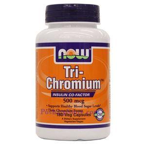 Picture of Now Foods Tri-Chromium™ 500 mcg with Cinnamon 180 Capsules