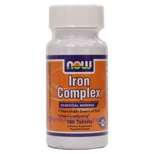 Picture of Now Foods Iron Complex Vegetarian  100 Tablets