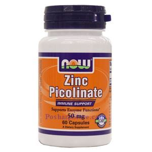 Picture of Now Foods Zinc Picolinate 50 mg 60 Capsules