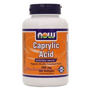 Picture of Now Foods Caprylic Acid 600 mg 100 Softgels