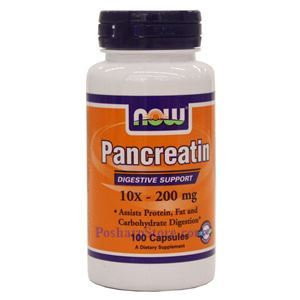 Picture of Now Foods Pancreatin 10X 200 mg 100 Capsules