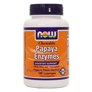 Picture of Now Foods Papaya Enzyme 180 Lozenges