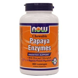 Picture of Now Foods Papaya Enzyme 360 Lozenges