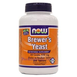 Picture of Now Foods Brewer's Yeast 650 mg 200 Tablets