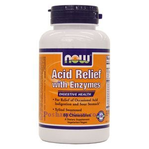 Picture of Now Foods Acid Relief with Enzymes 60 Chewables