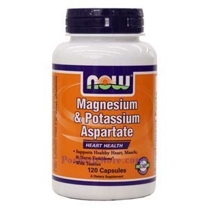 Picture of Now Foods Magnesium & Potassium Aspartate 120 Capsules