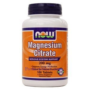 Picture of Now Foods Magnesium Citrate 200 mg 100 Tablets