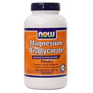 Picture of Now Foods Magnesium Bisglycinate Powder 8 oz